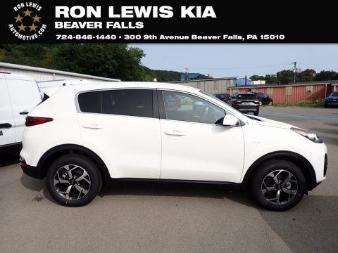 Clear White 2021 Kia Sportage LX AWD