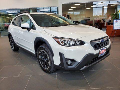 Crystal White Pearl 2021 Subaru Crosstrek Premium