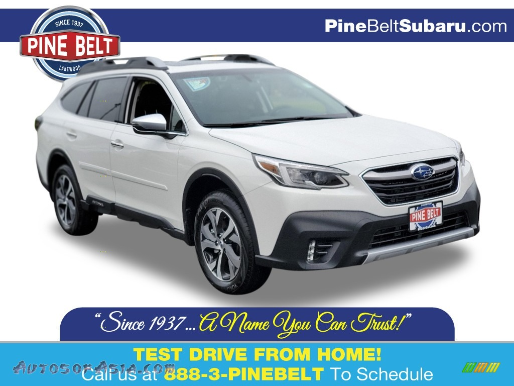 2020 Outback Touring XT - Crystal White Pearl / Java Brown photo #1