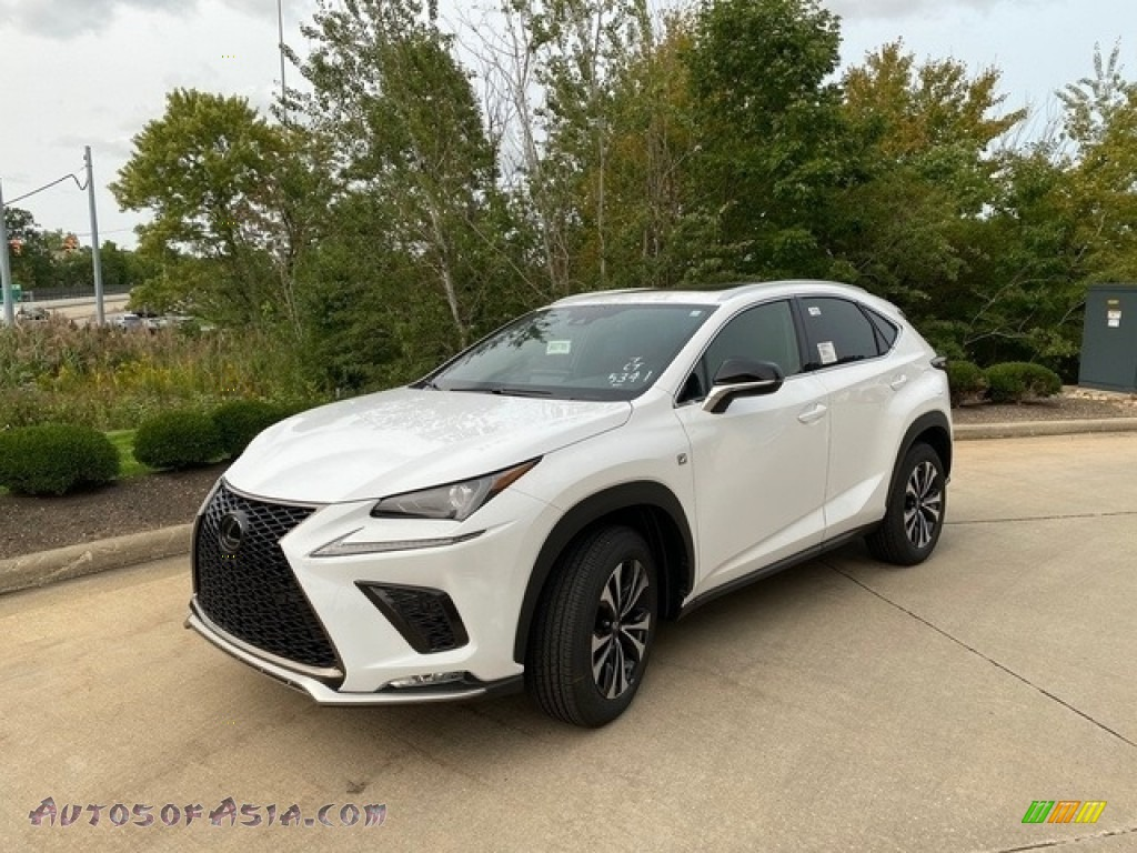 Ultra White / Black Lexus NX 300 F Sport AWD