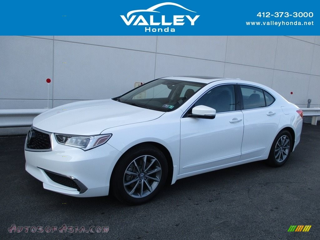Platinum White Pearl / Ebony Acura TLX Sedan