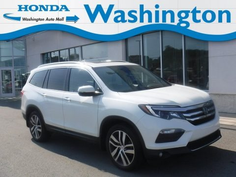 White Diamond Pearl 2017 Honda Pilot Elite AWD