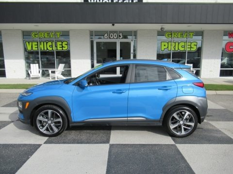 Surf Blue 2020 Hyundai Kona Limited