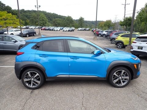 Surf Blue 2021 Hyundai Kona Ultimate AWD