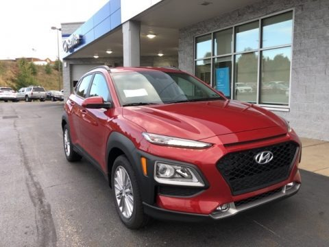 Pulse Red 2021 Hyundai Kona SEL AWD