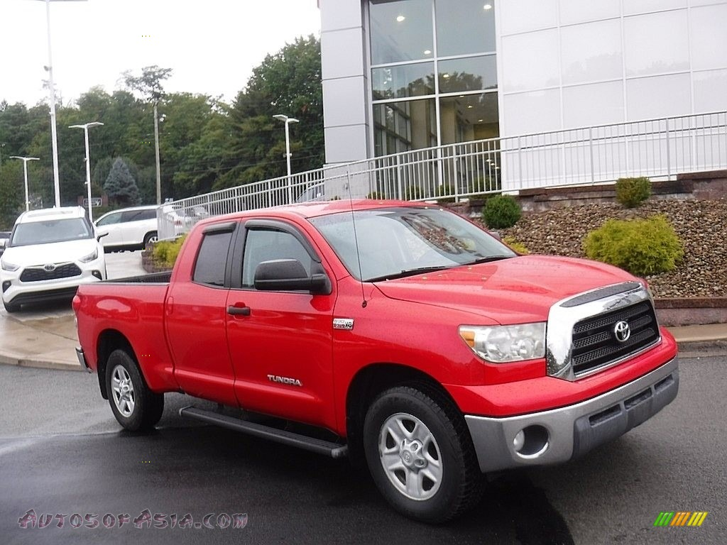 2008 Tundra SR5 Double Cab 4x4 - Radiant Red / Graphite Gray photo #1