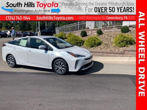 Wind Chill Pearl 2021 Toyota Prius XLE AWD-e