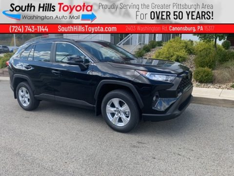 Midnight Black Metallic 2021 Toyota RAV4 XLE AWD