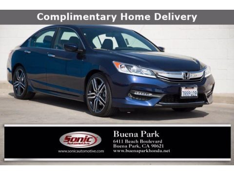 Obsidian Blue Pearl 2016 Honda Accord Sport Sedan