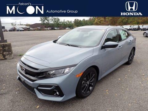 Sonic Gray Pearl 2020 Honda Civic EX Hatchback