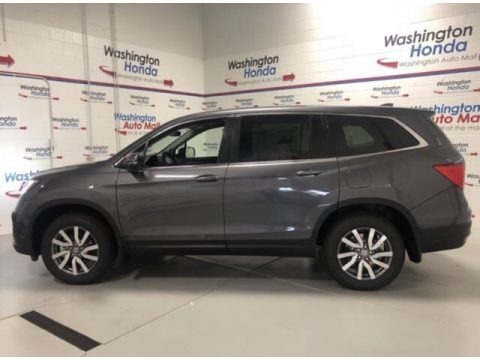 Modern Steel Metallic 2021 Honda Pilot Elite AWD