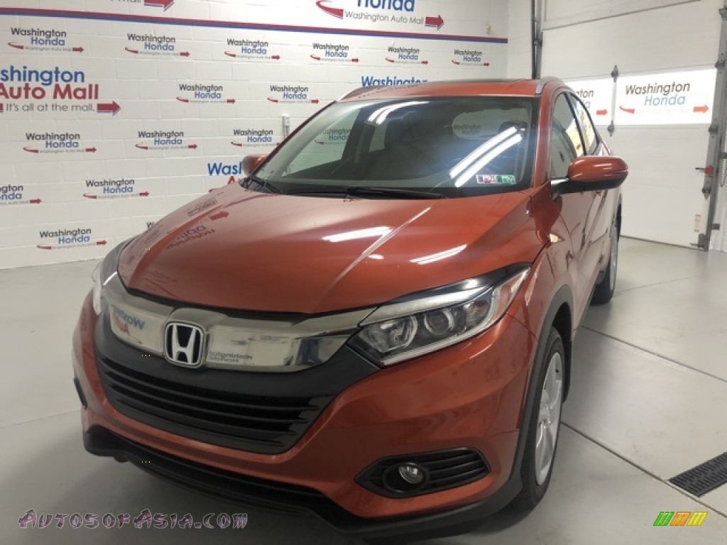 2020 HR-V EX AWD - Orangeburst Metallic / Black photo #1