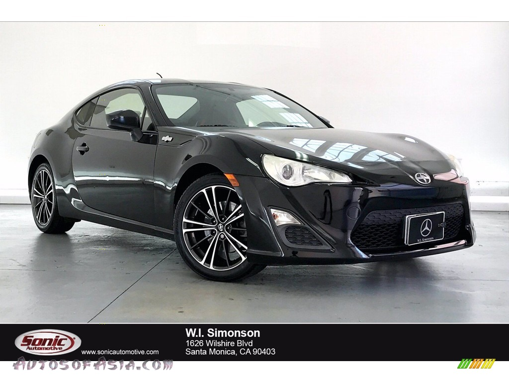Raven Black / Black/Red Accents Scion FR-S Sport Coupe