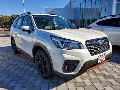 Crystal White Pearl 2020 Subaru Forester 2.5i Sport