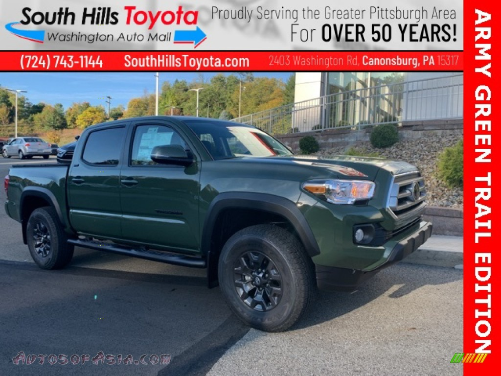 Army Green / Black Toyota Tacoma SR5 Double Cab 4x4