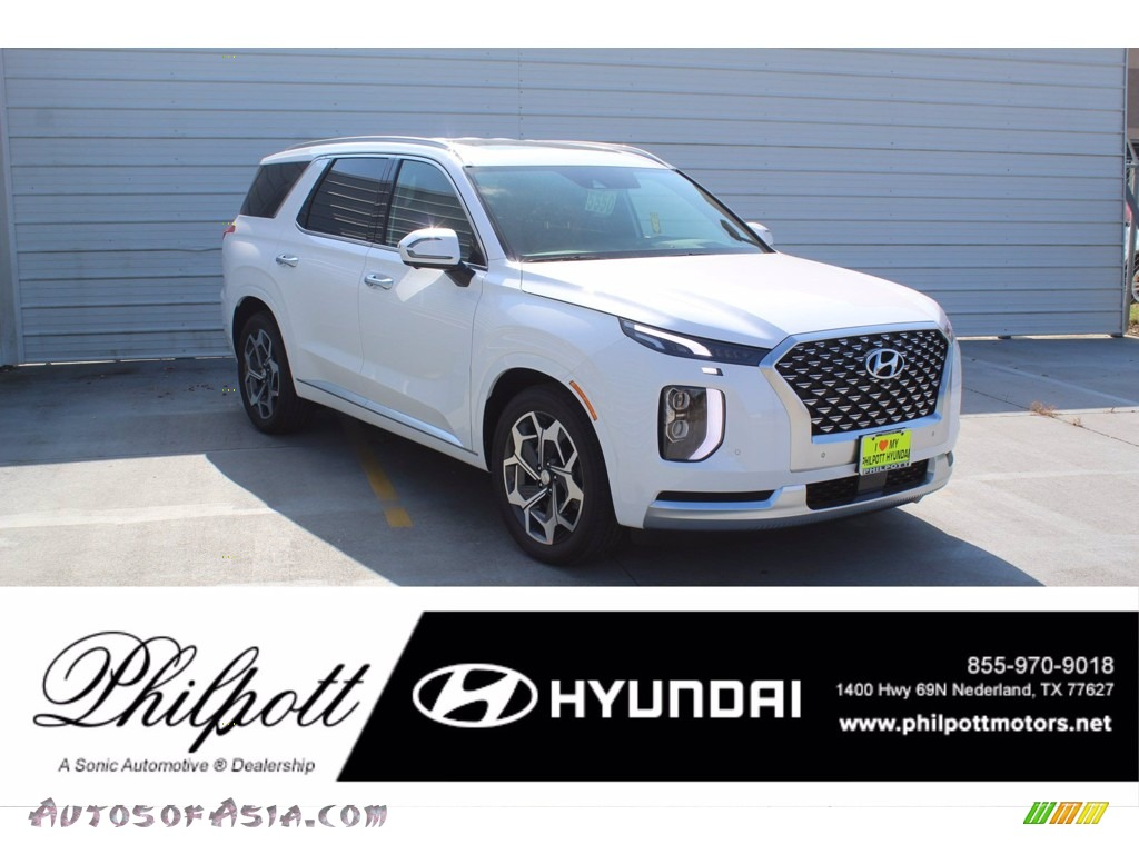 2021 Palisade Calligraphy AWD - Hyper White / Black photo #1