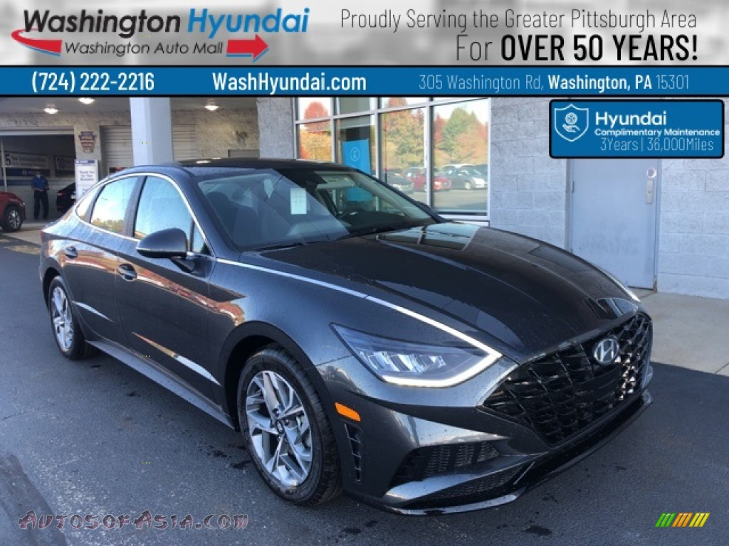 2021 Sonata SEL - Portofino Gray / Black photo #1