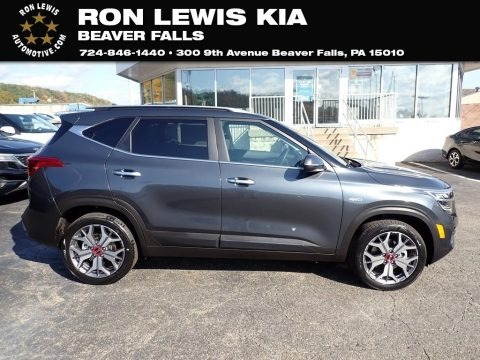 Gravity Gray 2021 Kia Seltos SX Turbo AWD