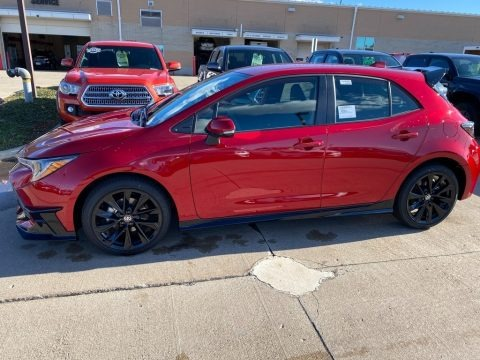Supersonic Red 2021 Toyota Corolla Hatchback SE