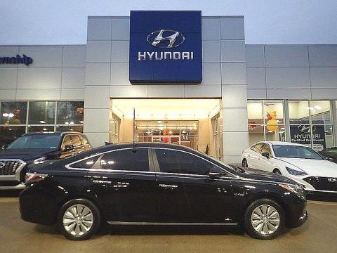 Eclipse Black 2016 Hyundai Sonata Hybrid SE