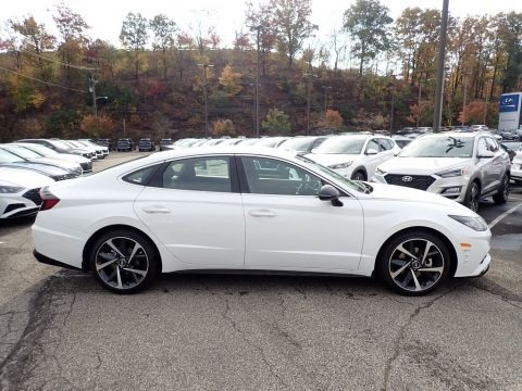 Quartz White 2021 Hyundai Sonata SEL Plus