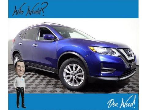 Caspian Blue 2017 Nissan Rogue SV AWD
