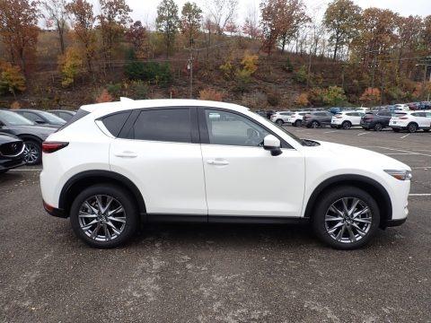 Snowflake White Pearl Mica 2021 Mazda CX-5 Grand Touring AWD