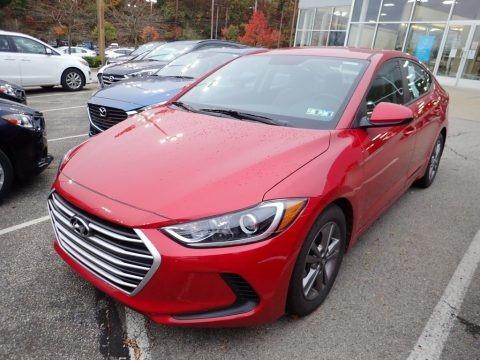 Scarlet Red 2018 Hyundai Elantra SEL