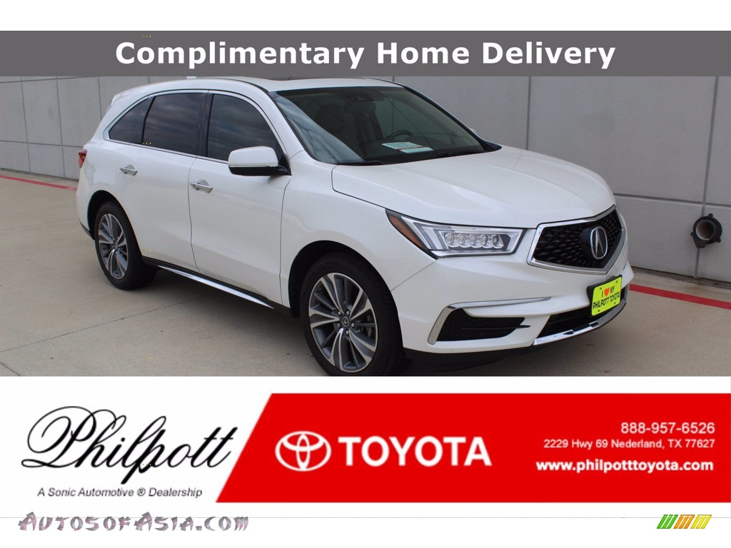 White Diamond Pearl / Parchment Acura MDX Technology SH-AWD