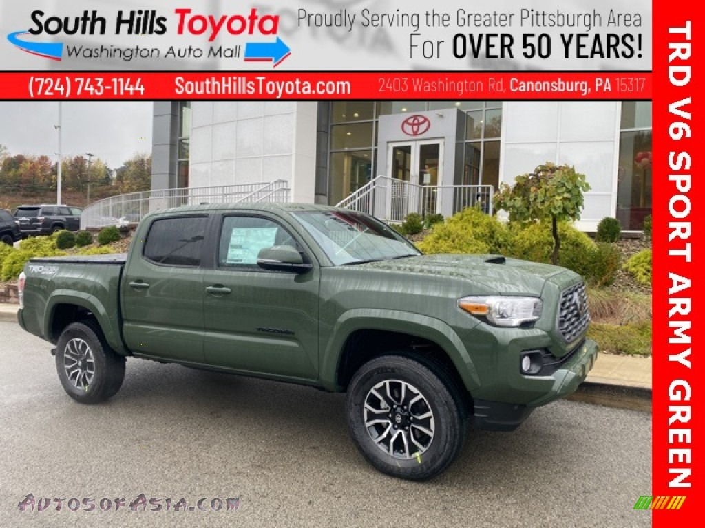 2021 Tacoma TRD Sport Double Cab 4x4 - Army Green / TRD Cement/Black photo #1