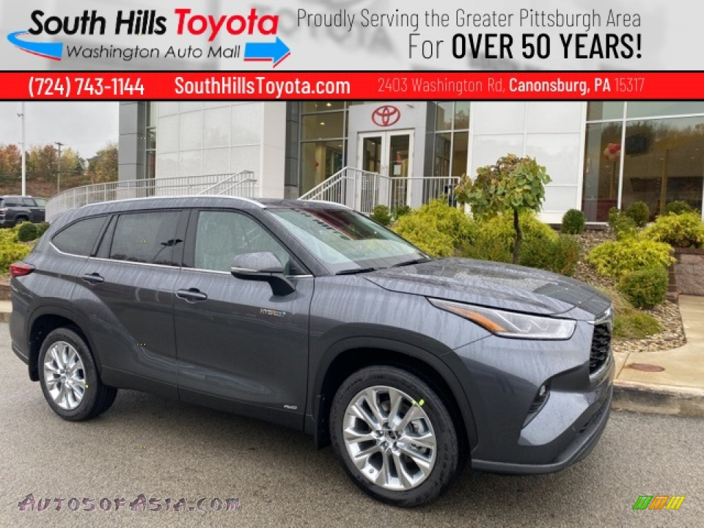 2021 Highlander Hybrid Limited AWD - Magnetic Gray Metallic / Graphite photo #1