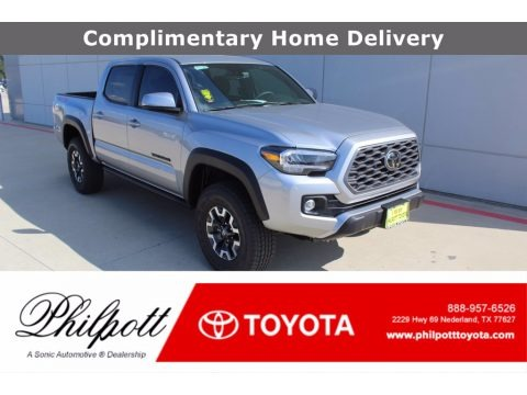 Silver Sky Metallic 2021 Toyota Tacoma TRD Off Road Double Cab 4x4