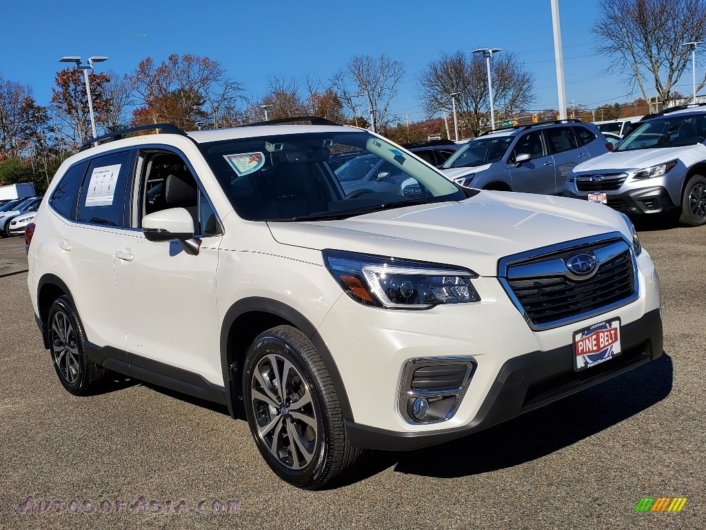2021 Forester 2.5i Limited - Crystal White Pearl / Black photo #1