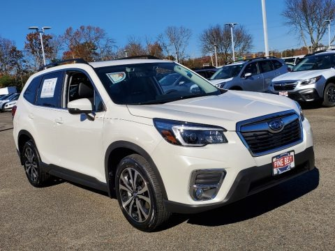 Crystal White Pearl 2021 Subaru Forester 2.5i Limited