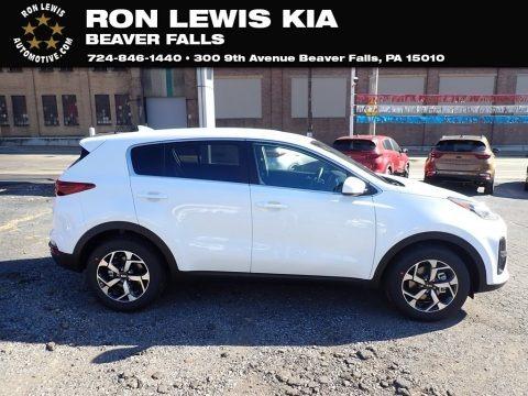 Clear White 2021 Kia Sportage LX
