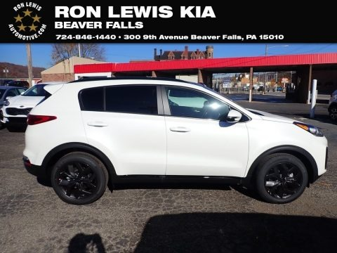 Clear White 2021 Kia Sportage S AWD