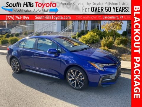 Blue Crush Metallic 2021 Toyota Corolla SE
