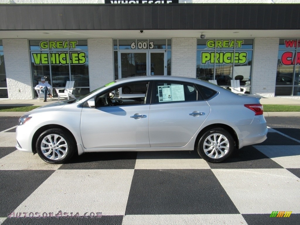 Brilliant Silver Metallic / Charcoal Nissan Sentra S