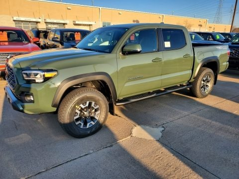 Army Green 2021 Toyota Tacoma TRD Off Road Double Cab 4x4