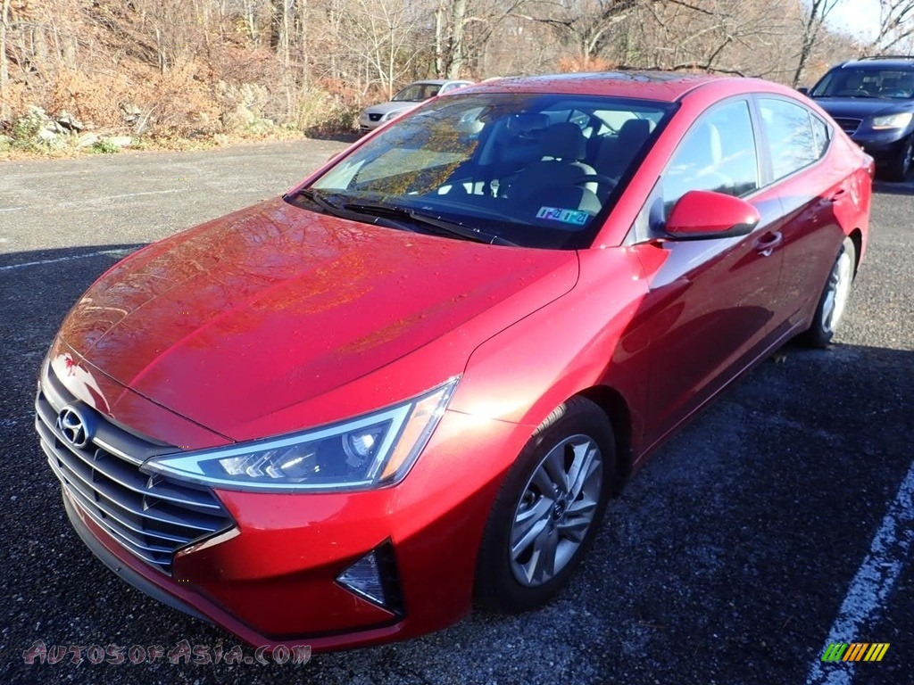 2020 Elantra Value Edition - Scarlet Red Pearl / Gray photo #1