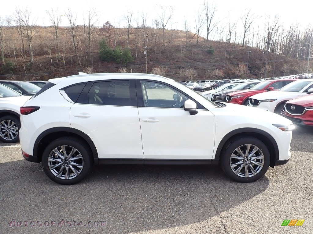 2021 CX-5 Grand Touring AWD - Snowflake White Pearl Mica / Parchment photo #1
