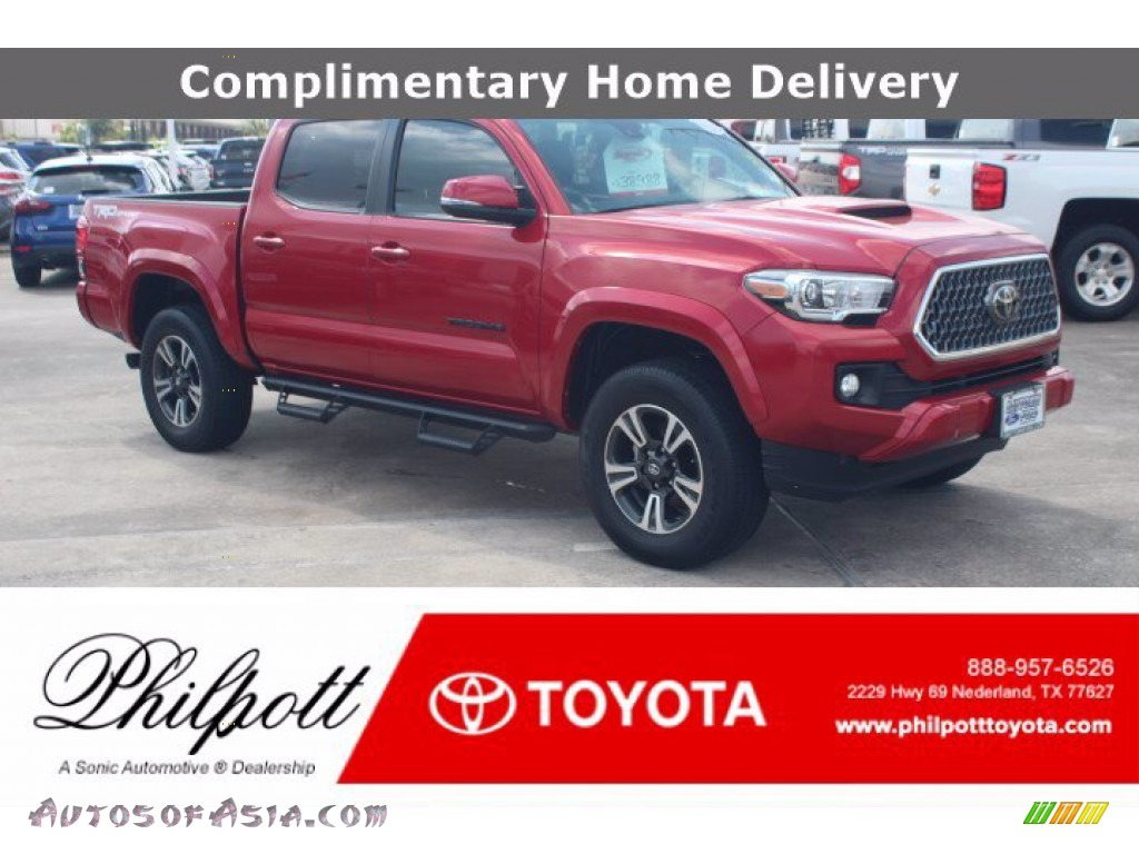 2019 Tacoma TRD Sport Double Cab - Barcelona Red Metallic / Black photo #1