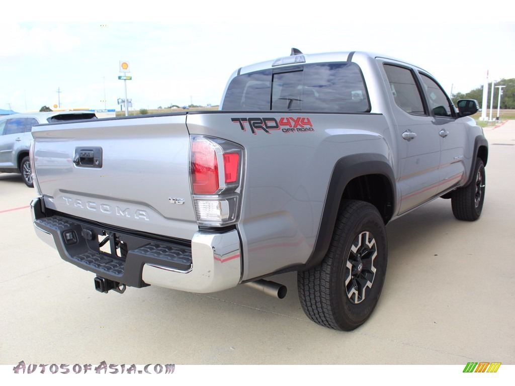 2021 Tacoma TRD Off Road Double Cab 4x4 - Silver Sky Metallic / TRD Cement/Black photo #8