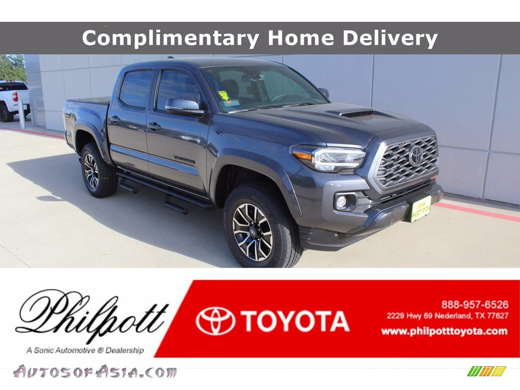Magnetic Gray Metallic / Cement Toyota Tacoma TRD Sport Double Cab