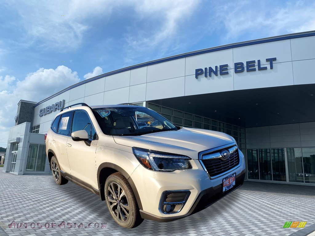 2021 Forester 2.5i Limited - Crystal White Pearl / Gray photo #1