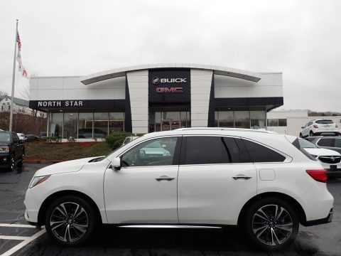 Platinum White Pearl 2020 Acura MDX Technology AWD