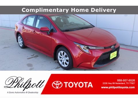 Barcelona Red Metallic 2021 Toyota Corolla LE
