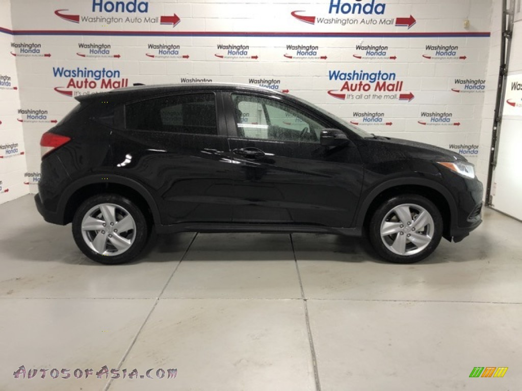 2021 HR-V EX AWD - Crystal Black Pearl / Black photo #1