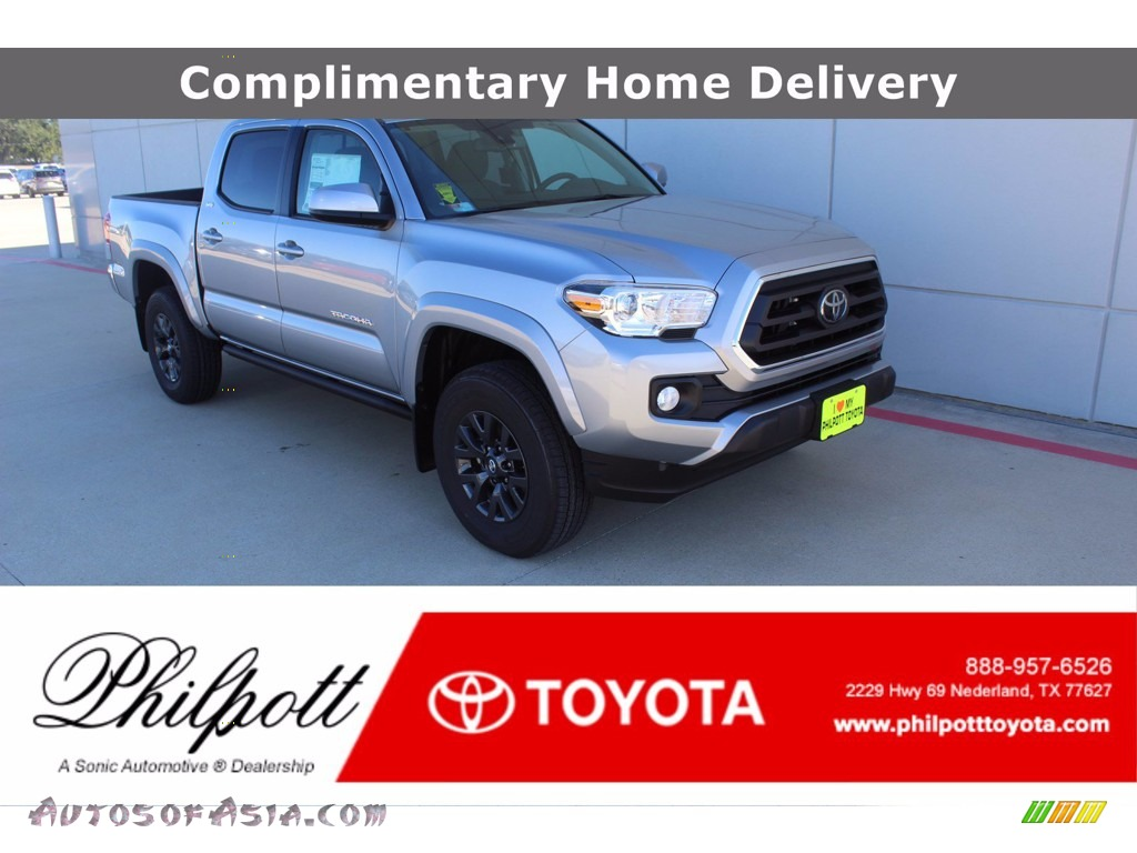 2021 Tacoma SR5 Double Cab - Silver Sky Metallic / Cement photo #1