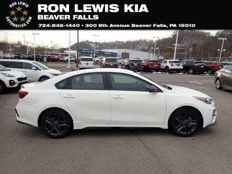 Clear White 2021 Kia Forte GT-Line